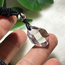 Natural Clear Quartz Crystal Specimen Point Pendant Reiki Healing J032228 - $8.86