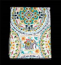 Cynthia Rowley Colorful Bright HAPPY ELEPHANT Thick Shower Curtain NIP Nice - $32.99