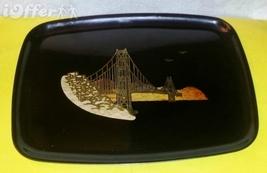 "EAMES ERA MID CENTURY MODERN-- COUROC GOLDEN GATE BRIDGE TRAY 12 5/8""  X... - $29.95"