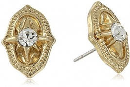 1928 Jewelry Gold-Tone Crystal Vintage Inspired Post Stud Earrings - $37.95