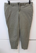 W13168 Womens GAP Olive Green Stretch Broken In Straight SKINNY PANTS Khakis 2 - $19.25