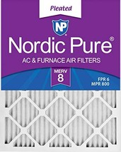 Nordic Pure 16x24x1 MERV 8 Pleated AC Furnace Air Filters 6 Pack, 16x24x1M8-6