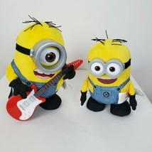 Minions Lot 2 Animated Toys Talks Sings Dances Yellow Goggles Overalls G... - $48.49