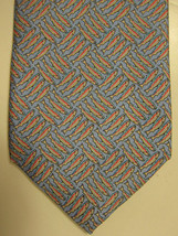 NEW $95 Peter Blair Light Blue With Pink Fish Silk Tie Made in USA - $37.49