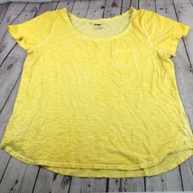 NWOT Lane Bryant Plus Size Yellow Cotton Short Sleeve Tee with Pocket Size 18/20 - $9.74
