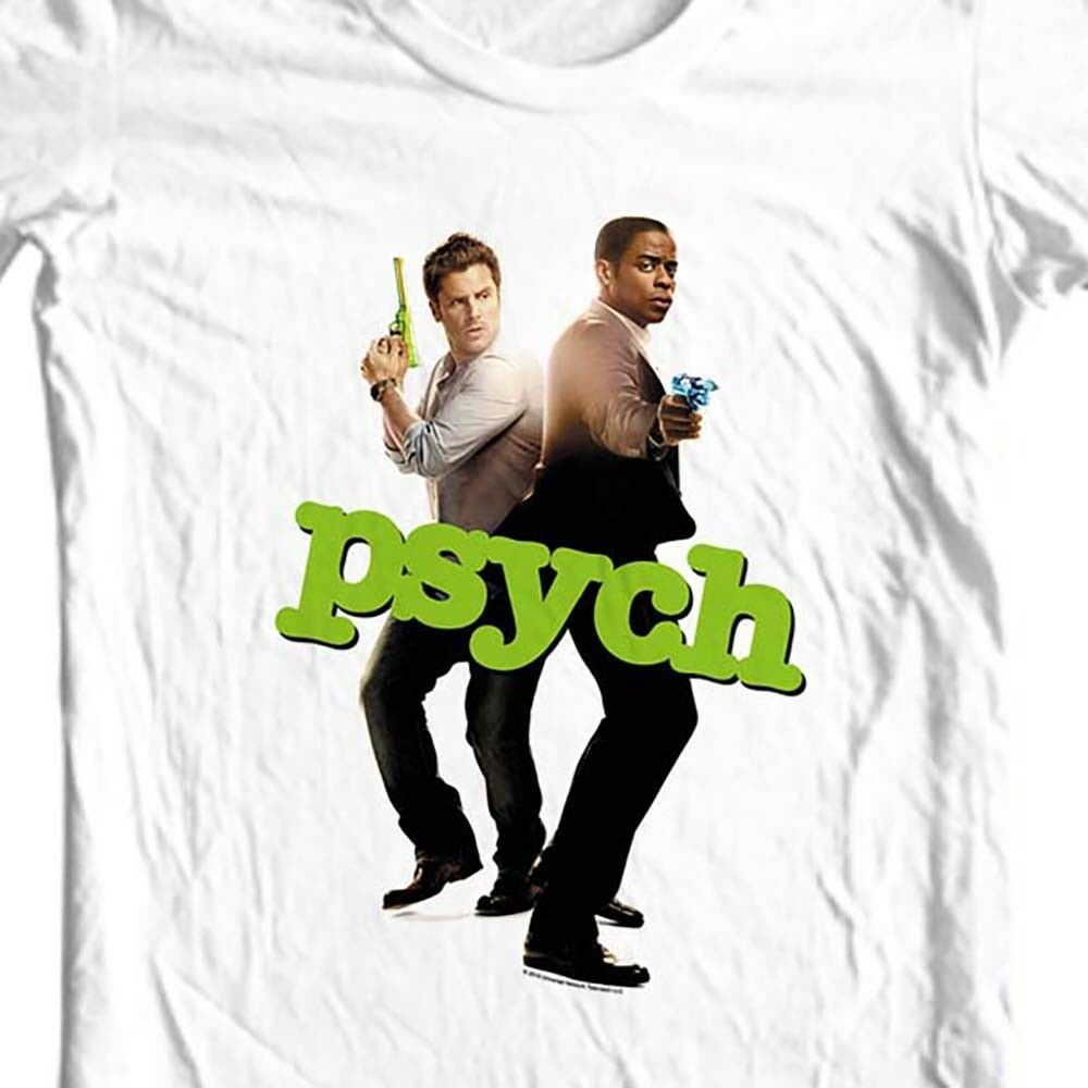 Psych T-shirt Shawn and Gus detective TV Show USA television NBC161