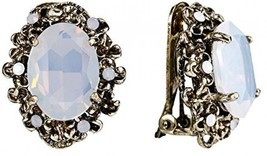 BriLove Antique-Gold-Toned Clip-On Earrings Women's Victorian Style Crystal - $32.91