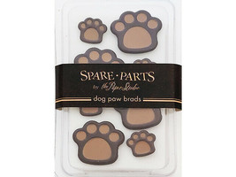 Spare Parts Dog Paw Brads, 8 Count #LLB-07/08-C1