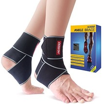 Ankle Brace, Husoo Breathable Ankle Support, Compression Ankle Wrap for ... - $14.92