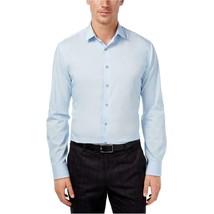 Alfani Men's Light Blue Fitted Performance Dress Shirt Size 16 1/2 32/33 - $12.84
