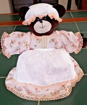 Vintage ~ MAMA BEAR ~ Handmade Toilet Paper Cover Dress & Apron Bathroom... - $14.84