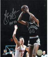 George Gervin signed San Antonio Spurs 8x10 Photo HOF 96 vs Rockets - $27.95