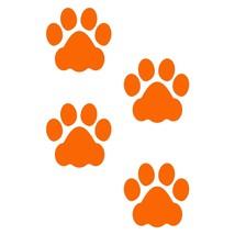 LiteMark 3 Inch Orange Dog Paw Prints - Pack of 48 - $27.95