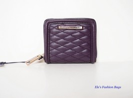 NWT Rebecca Minkoff LOVE Mini AVA Leather Wallet Coin Purse PURPLE $98 A... - $48.00