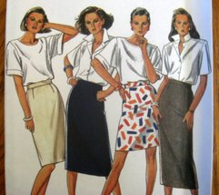Simplicity New Look - 6335 - Size 8 Skirts In 4 Styles Zipper Back - $2.00