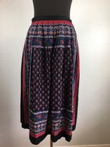 Vintage Lew Magram Women Skirt 12 Pleated Multi Color Floral Midi USA Un... - $35.99