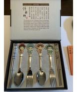 Guo Cui Jing Ju Chinese Beijing Opera Flatware w/ Chopsticks Collectible - $45.00