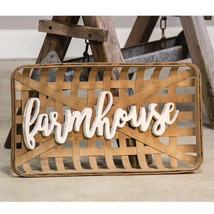 FARMHOUSE TOBACCO BASKET Wall Art / RUSTIC / PRIMITIVE/ COUNTRY BASKETS - $59.95
