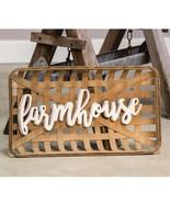 FARMHOUSE TOBACCO BASKET Wall Art / RUSTIC / PRIMITIVE/ COUNTRY BASKETS - $59.95