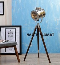 Modern Tripod Floor Lamp In Silver Finish Search Light By NauticalMart - $137.61