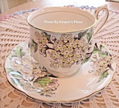 Vintage Royal Albert HAWTHORN Flower Of The Month Series Cup & Saucer Se... - $21.29