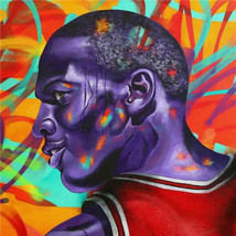 Timmy Sneaks Oil Painting on Canvas Wall Decor Graffiti Michael Jordan 2... - $31.67
