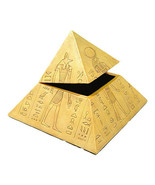 PTC 4.25 Inch Egyptian Gods Pyramid Shaped Jewelry/Trinket Box Figurine - $23.75