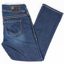 Silver Suki Capri Womens Jeans Thick Stitch Faded Dark Wash Size 26/27 - $24.47