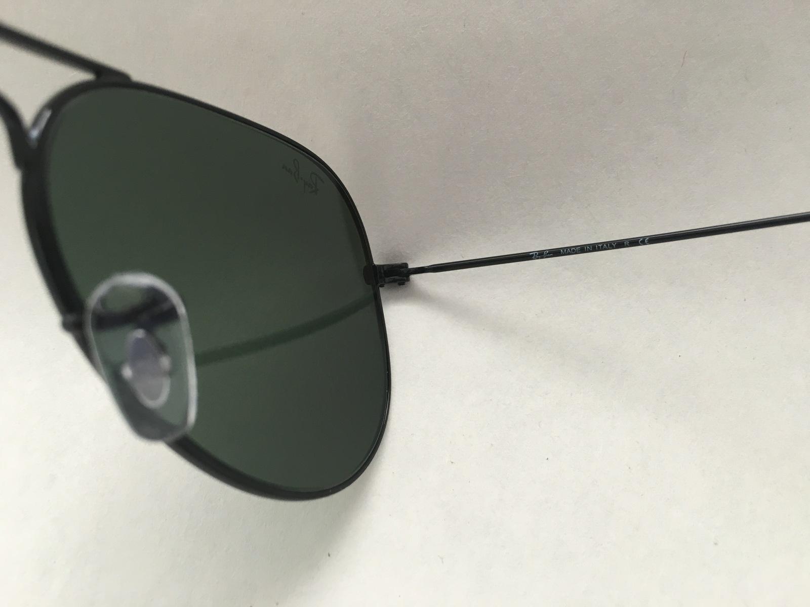 6226180d065 Ray-Ban Aviator RB3025 L2823 Black with Green G15 Lenses 58mm Sunglasses  100%UV