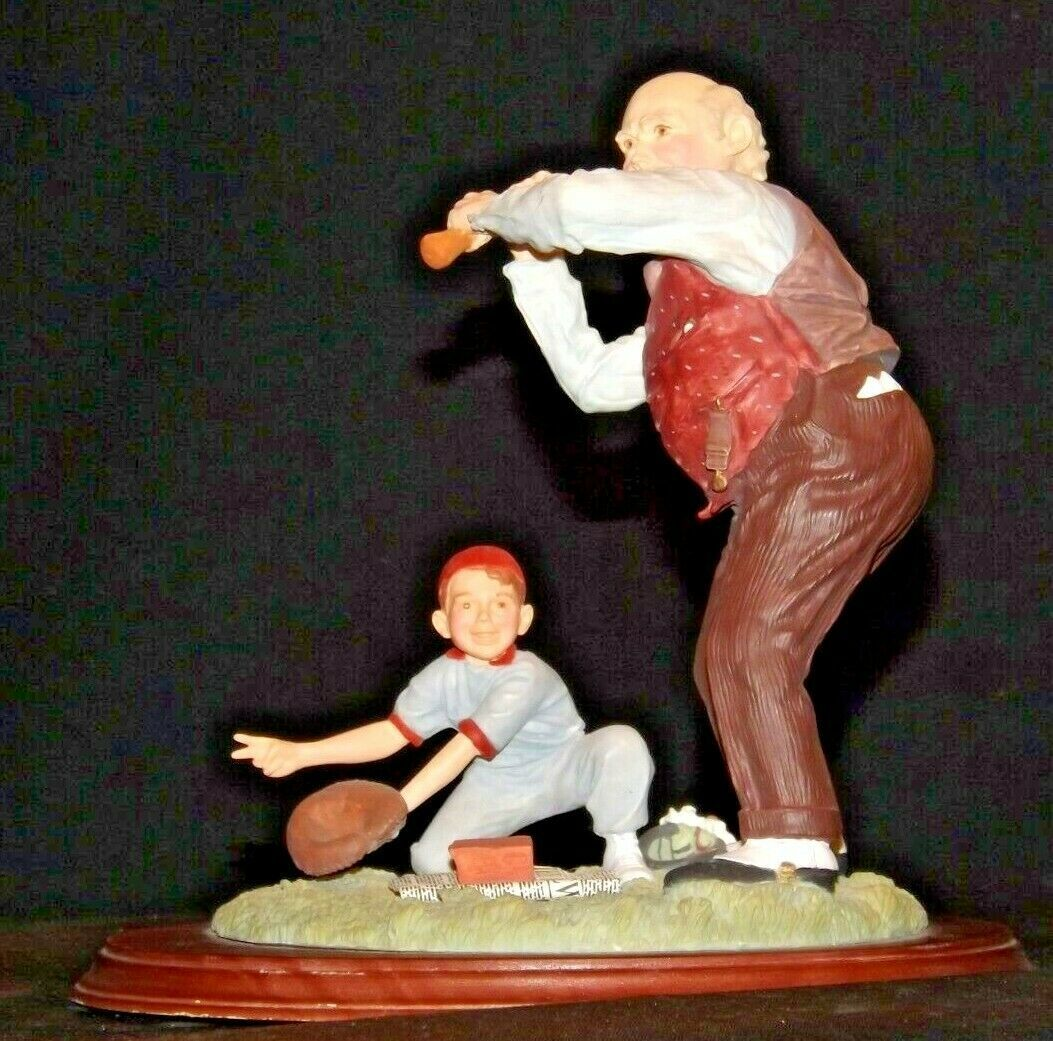 """""""Low and Outside """" by Norman Rockwell Figurine AA19-1665 Vintage"""