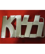Rare Kiss Platinum Plated Belt Buckle Very Nice Shine Band Music - $44.55