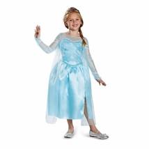 Disney Frozen Elsa Halloween Costume Size M 7-8 Blue Silver Shimmery Nwt - $23.36
