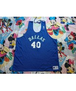 Vintage Dallas Mavericks Champion Authentic NBA Practice Reversible Jers... - $59.39