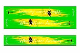 An item in the Sporting Goods category: White Water Archery WWA Grim Reaper Reap It Flames Green Solid Color Stabilizer
