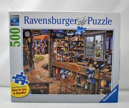 "Ravensburger Dad's Shed 500 Piece Large Piece Format Puzzle - 27"" x 20"" Complete - $21.80"