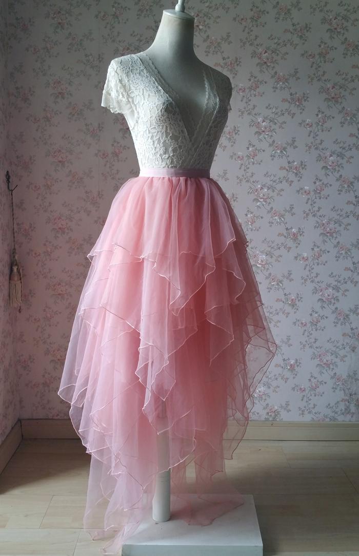 Tier tulle skirt pink 700 2