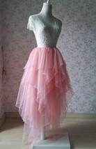 Tiered Tutu Skirt Blush Bridal Tutu Ballerina Skirts Plus Size Tulle Blush Skirt image 4