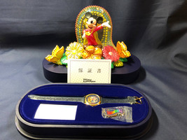 Tokyo Disney Land Good bye Fantillusion Commemorative Watch with Pin fig... - $157.41