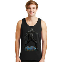 BLACK PANTHER SUPERHERO MOVIE COMICS GRAPHIC MENS BLACK TANK TOP 195 29.... - $15.99