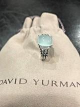 David Yurman Ring Petite Wheaton Aqua Chalcedony And Diamond Size - 5 - $299.99