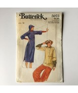 Vintage Butterick 5073 Hooded Dress and Top with Visor 14 Uncut Pattern FF - $44.46