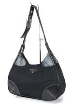 Authentic PRADA Black Nylon and Leather Tote Hand Bag Purse #33384 - $249.00
