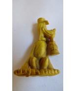 VINTAGE SMALL DISNEY PLUTO RAILWAY LAMP CAKE DECOR TOY FIGURINE PLASTIC ... - $17.82