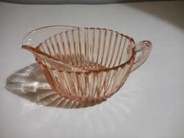 """Queen Mary Pink Anchor Hocking Creamer Vintage Depression Glass 5 1/2"""" X... - $11.99"""