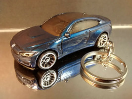 Dark Blue 2014 BMW M4 Key Chain Ring - $15.19