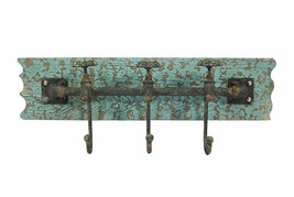 Vintage Iron Wall Hooks Antique Finish Metal Clothes Bath Tower Hanger T... - $36.94