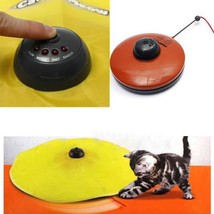 Cats Toy Moving Mouse Yellow Undercover Fabric Keeps Cat Meow Funny Busy... - $30.99