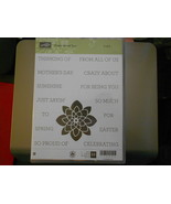 Stampin Up Wooden Stamp Set (new) CRAZY ABOUT YOU 2-sets (33 stamps) - $42.64