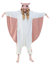New Flying Squirrel Kigurumi Pajamas Animal Cosplay Costume Men Women Sl... - $32.99