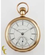 Hampden Dueber 14K Yellow Gold Antique Open Face Pocket Watch 17 Jewel S... - $2,486.53